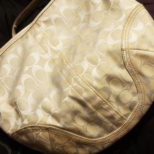 Off White Coach hobo bag